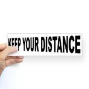 negative distance