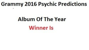 Album Of The Year 2016 Grammy
