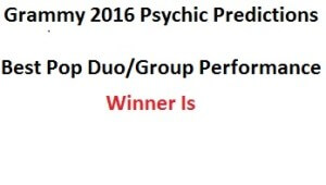 grammy 2015 Best Pop Duo/Group Performance