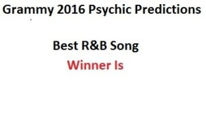 2016 grammy Best R&B Song prediction