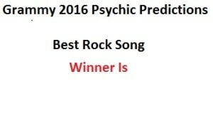 2016 grammy Best Rock Song