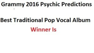 grammy 2016 Best Traditional Pop Vocal Album