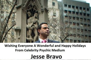 celebrity psychic jesse bravo happy holidays